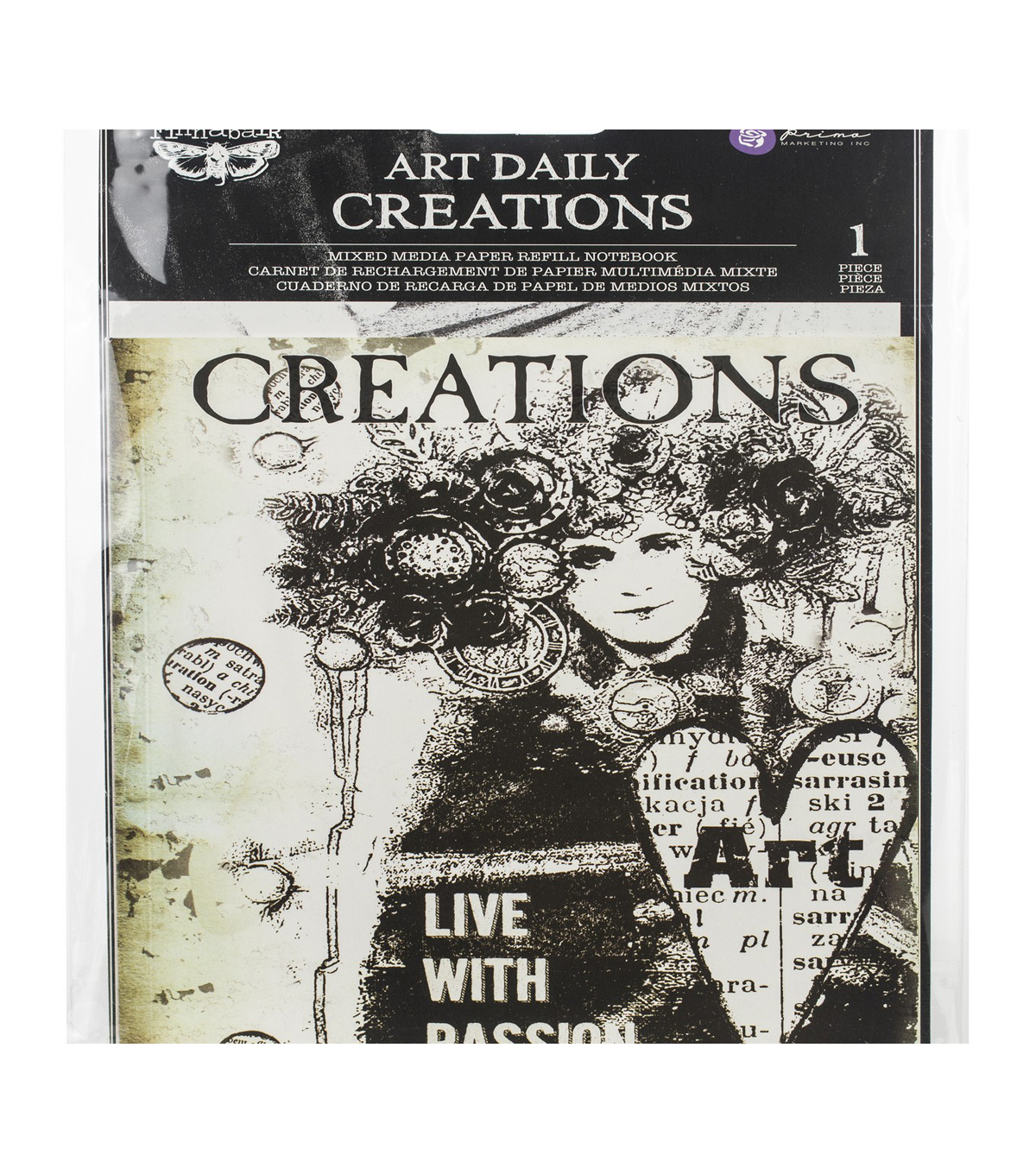 Prima Marketing Art Daily Mixed Media Paper Refill Notebook-Creations