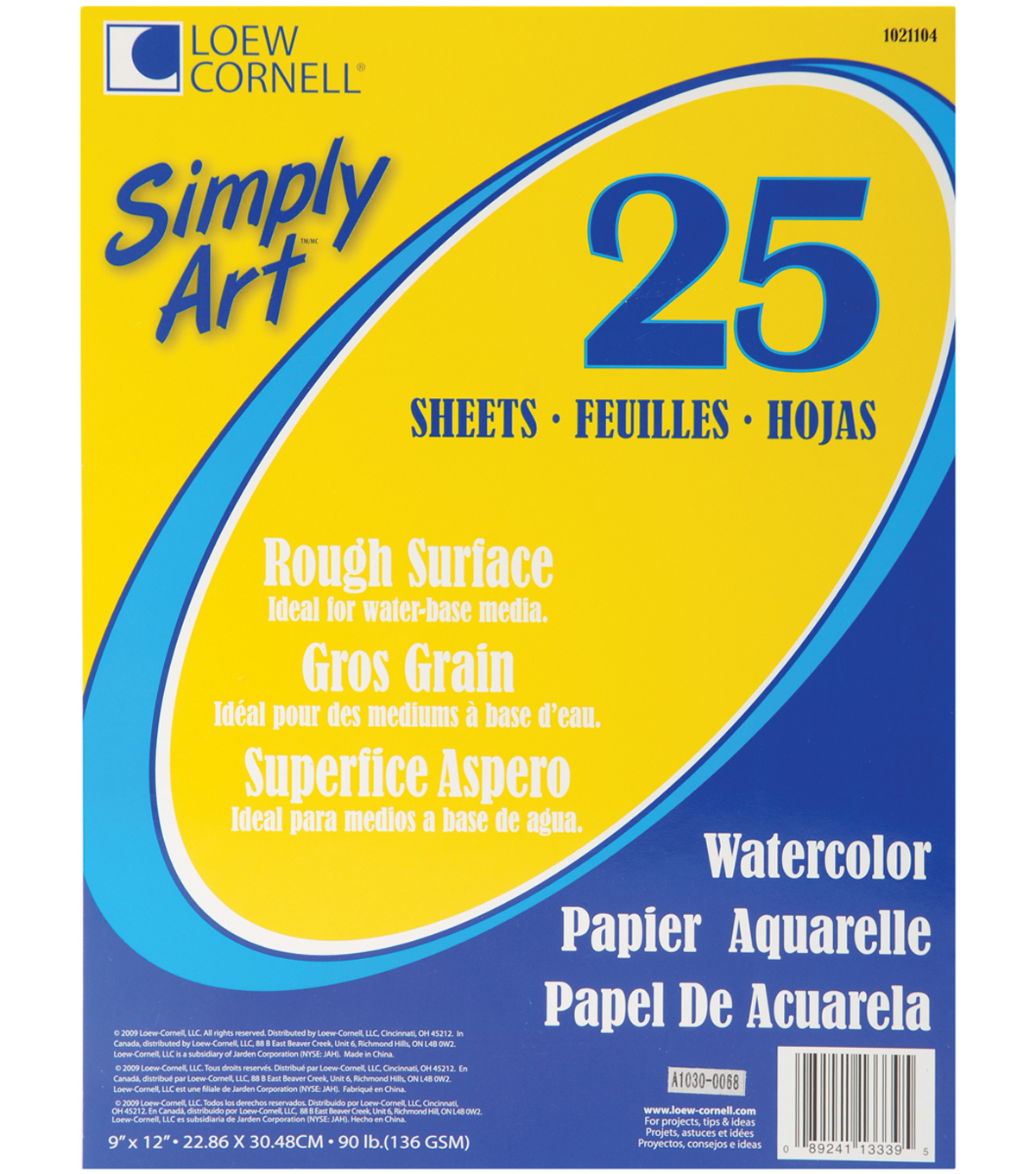Simply Art Watercolor Paper Pads 9\u0022X12\u0022