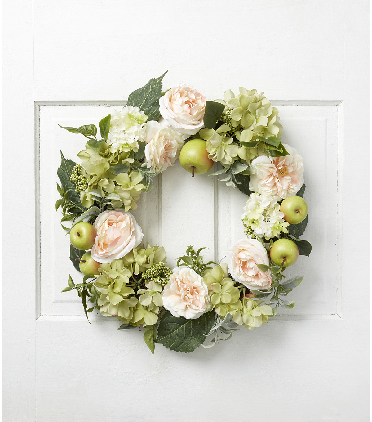 Fresh Picked Spring 22\u0027\u0027 Rose, Apple, Hydrangea, Leaves & Berries Wreath
