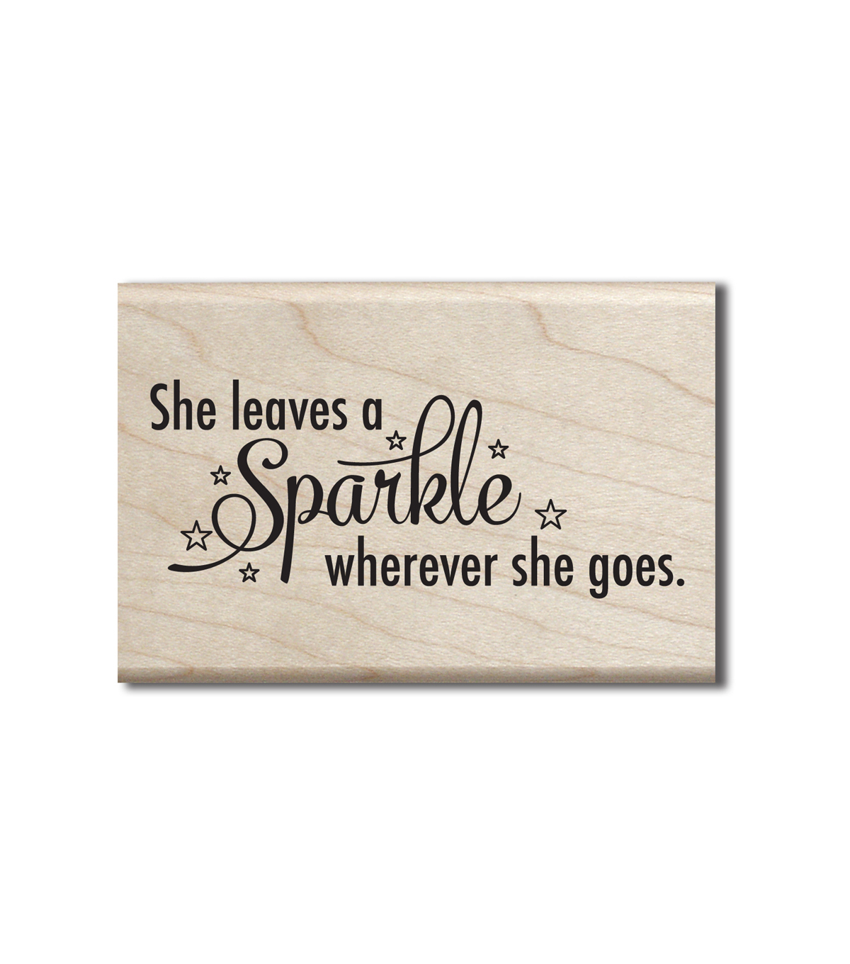 Jillibean Soup Wood Stamp-She Leaves Sparkle