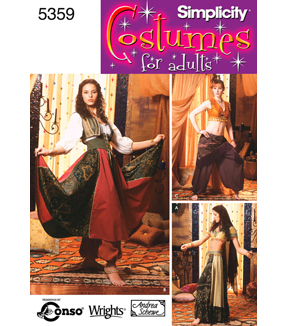 Simplicity Pattern 5359-Misses Belly Dancing Costumes