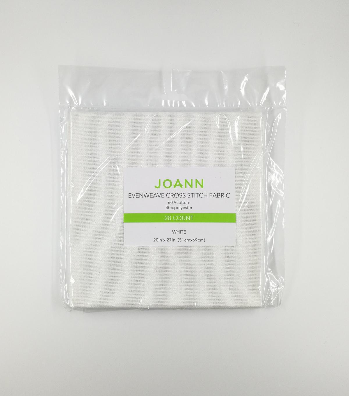 Joann 20x27 Evenweave Cross Stitch Fabric 28ct White Joann