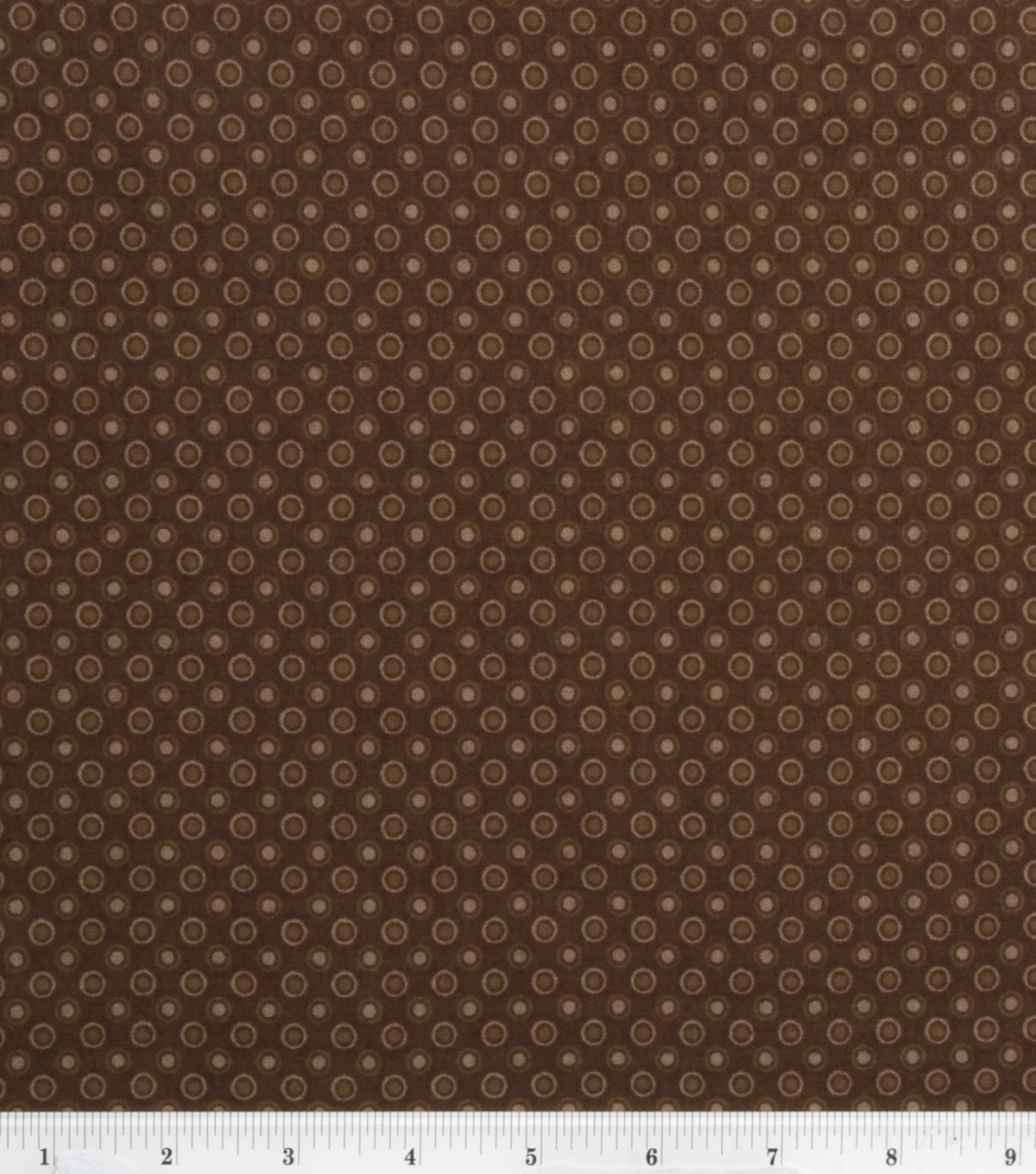 Keepsake Calico Cotton Fabric -Lined Dot Brown