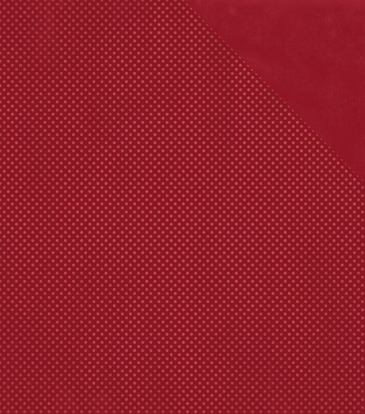 BoBunny Double Dot Double-Sided Textured Cardstock 12\u0022X12\u0022-Cranberry