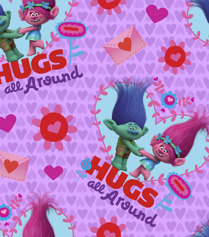 Valentine S Day Fabric Trolls Hugs All Around Joann