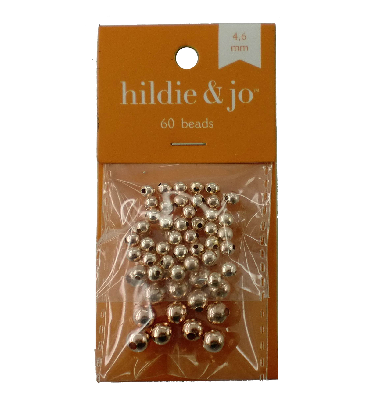 hildie & jo 60 Pack Beads-Rose Gold