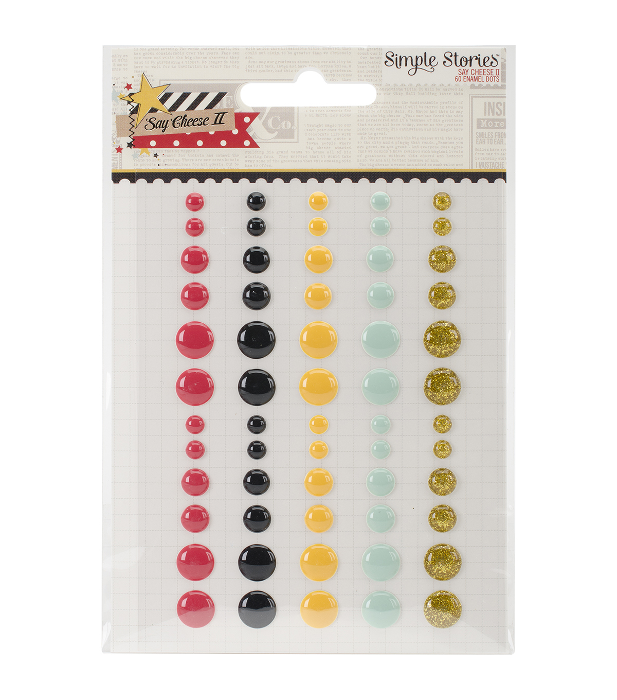 Simple Stories Say Cheese II Enamel Dots Embellishments