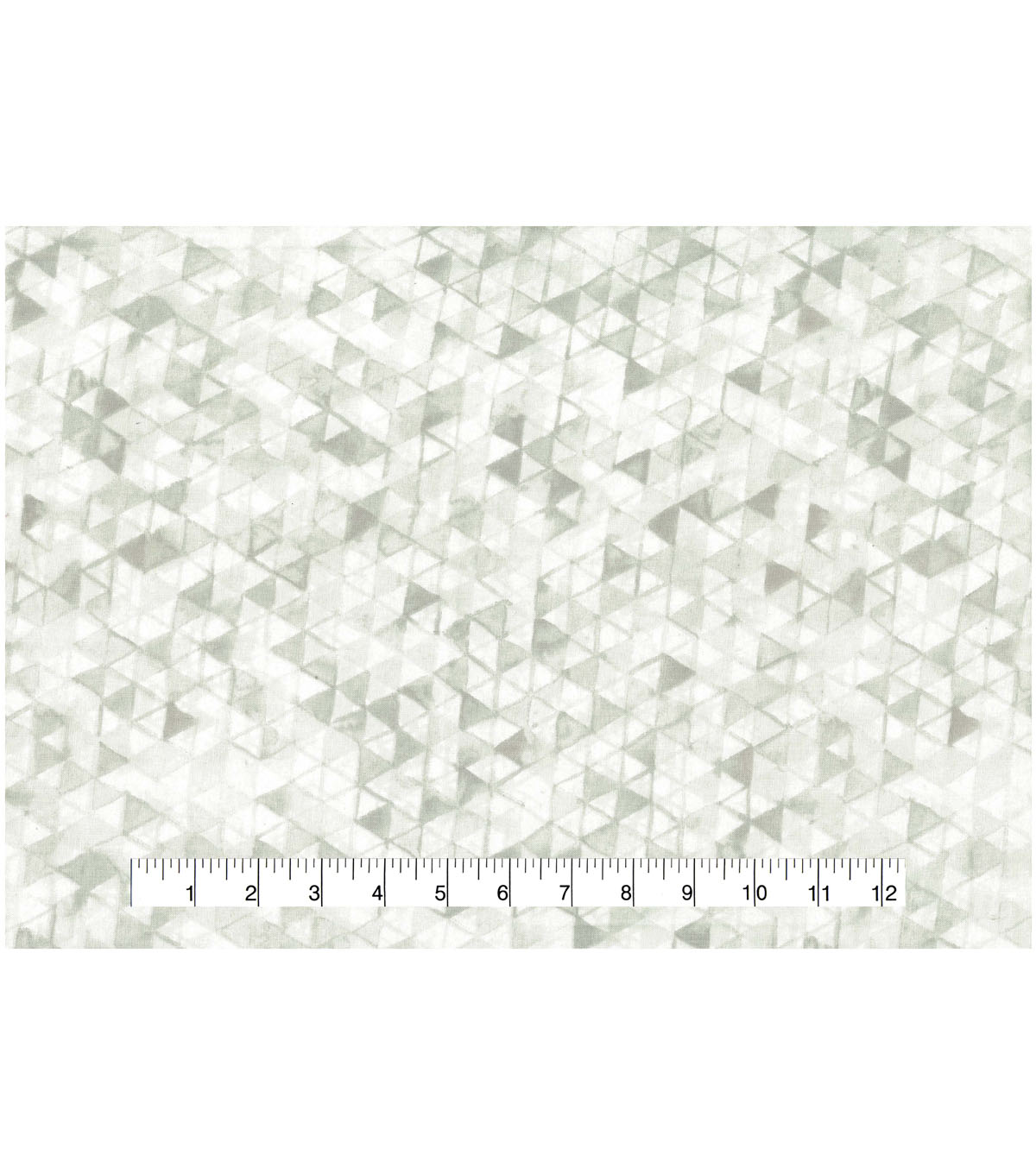Premium Wide Cotton Fabric-White Watercolor Triangles