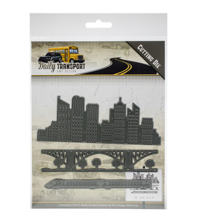 Amy Design Daily Transport 3 pk Cutting Dies-In the City