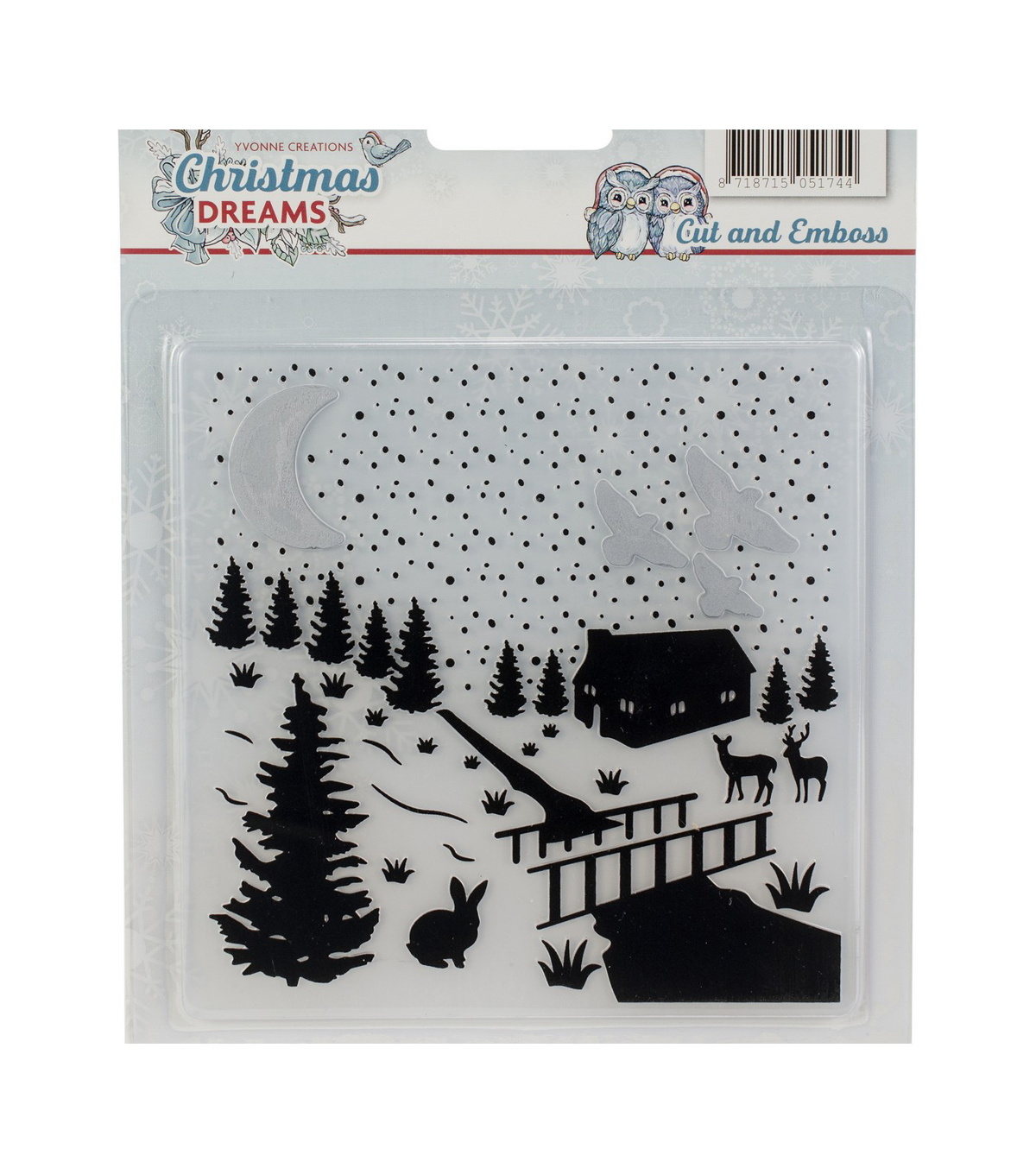 Find It Trading Yvonne Creations Embossing Folder-Christmas Dreams