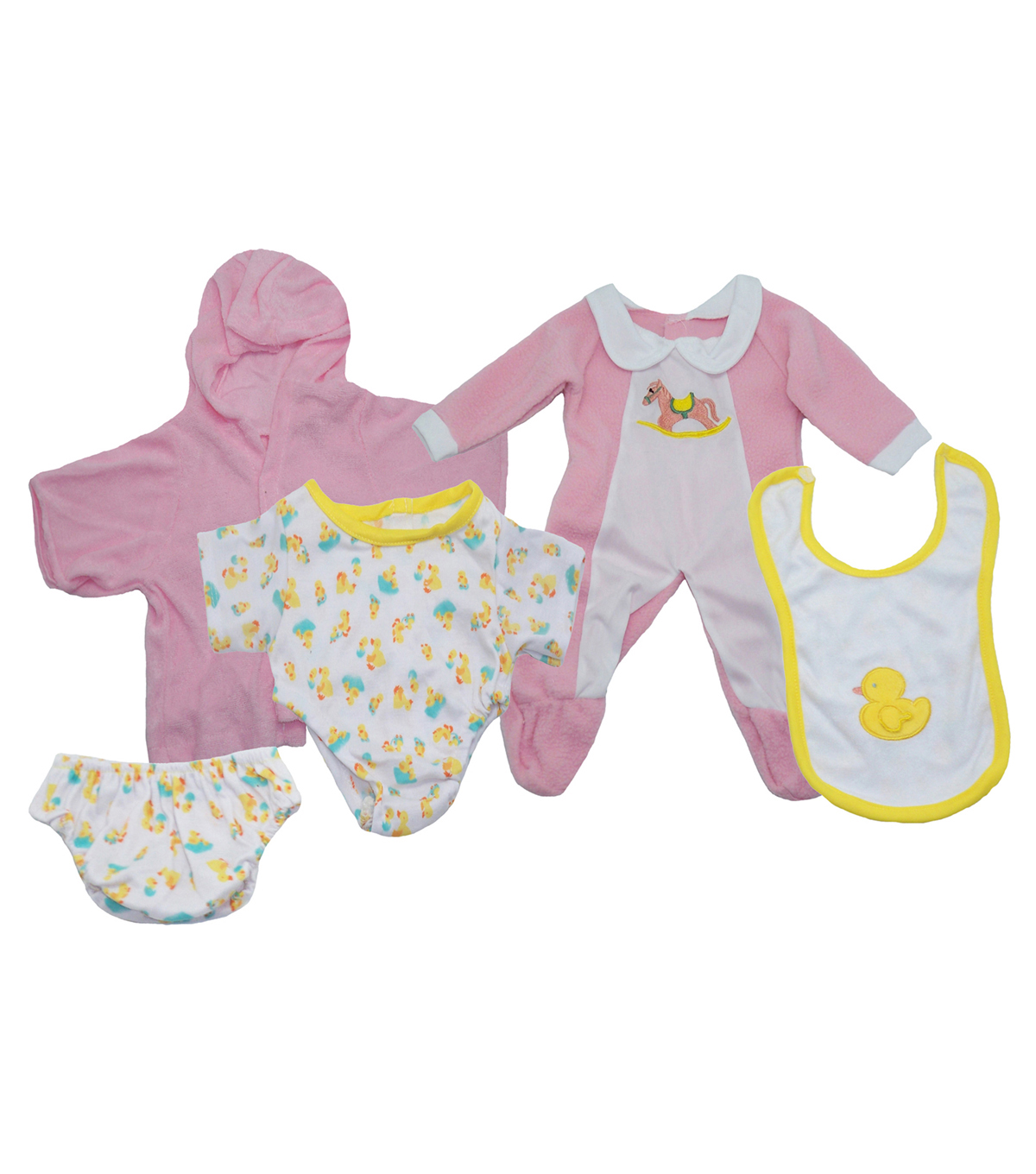 Girl Doll Clothes Set, 3 Outfits