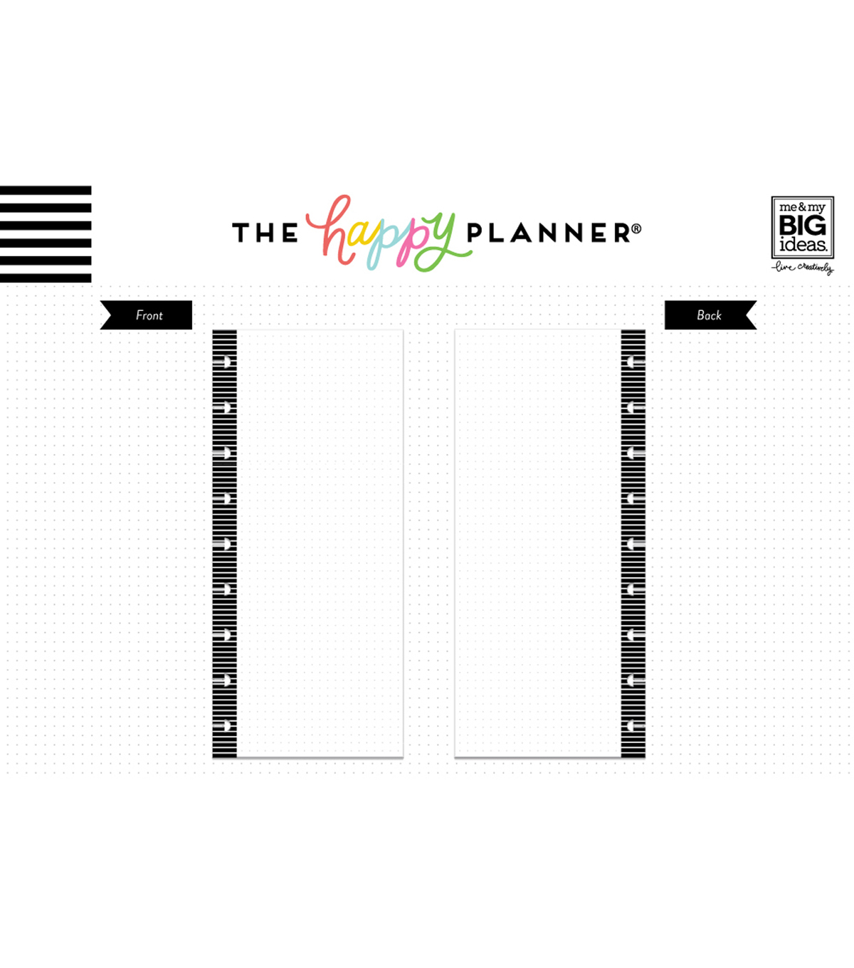 The Happy Planner 60 pk Journal Half Sheets-Grid