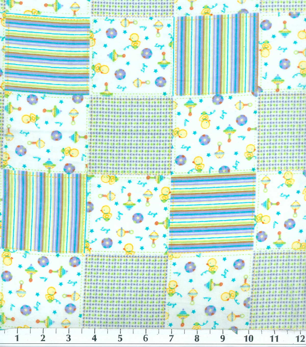 Snuggle Flannel Fabric -My Toy Patch