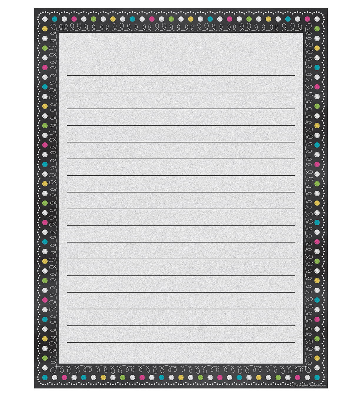 Teacher Created Resources Chalkboard Brights Lined Chart 6pk