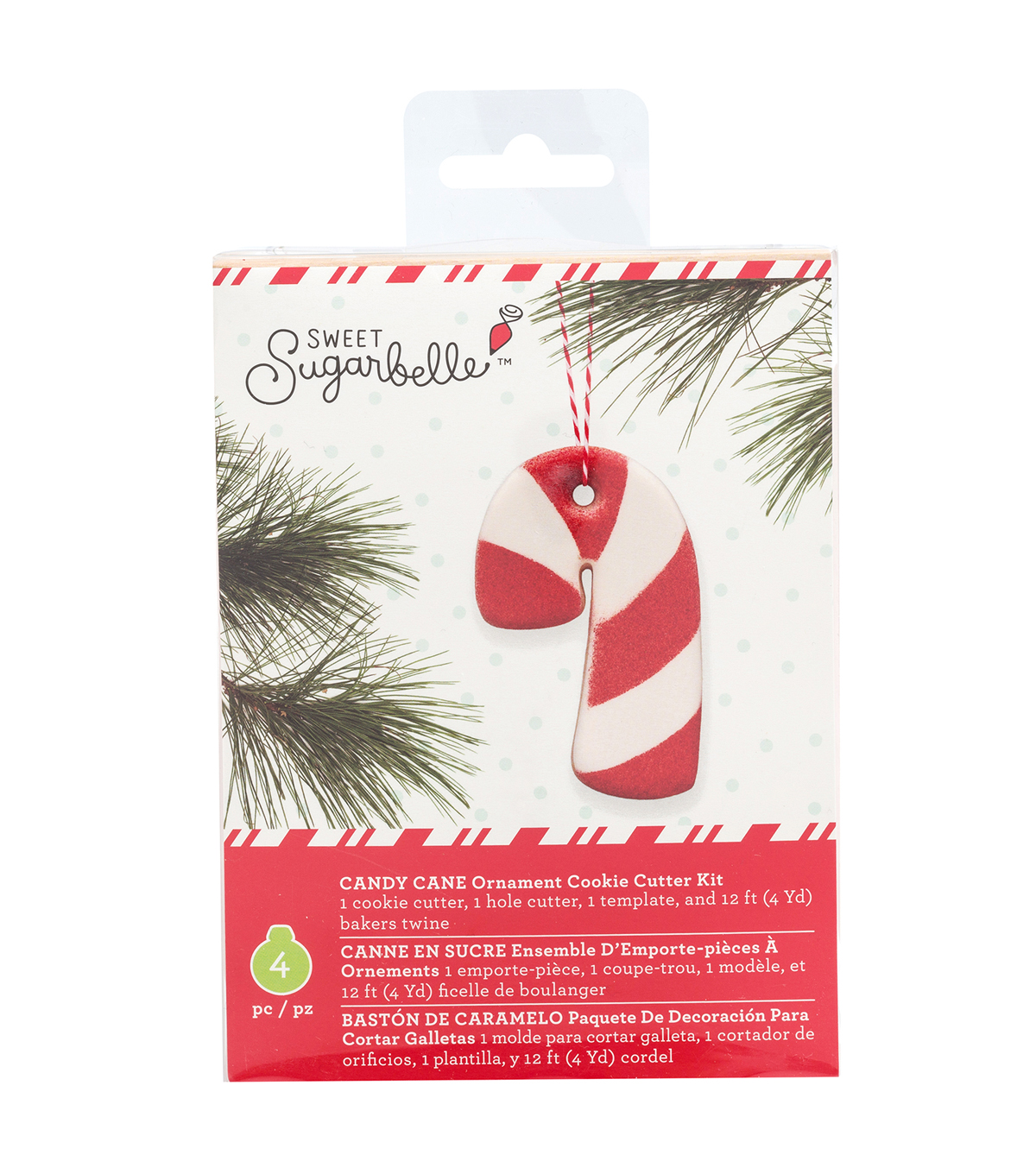 sweet sugarbelle christmas ornament cookie cutter kit candy cane
