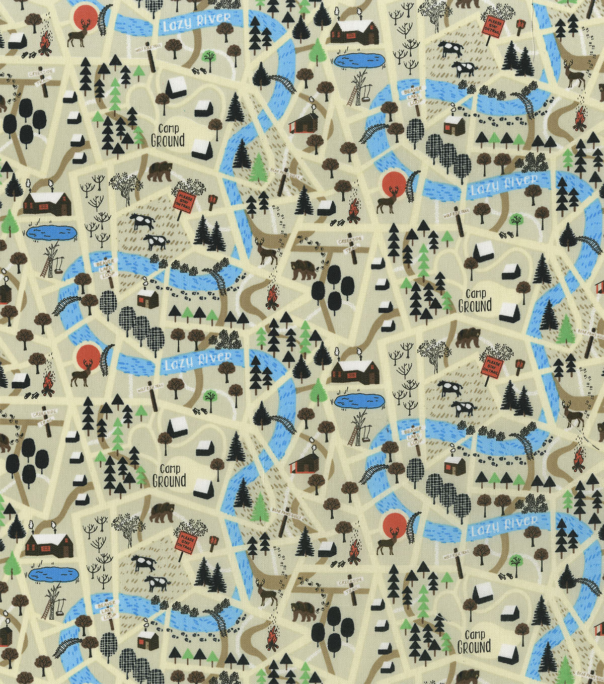 Novelty Cotton Fabric -Lazy River