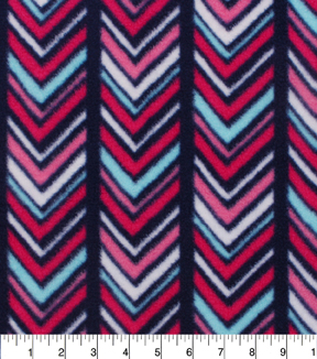 Anti-Pill Fleece Fabric 59\u0022-Boho Chevron