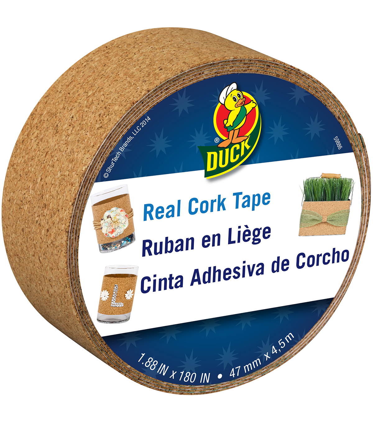 Duck Real Cork Tape 1.88\u0022x15ft