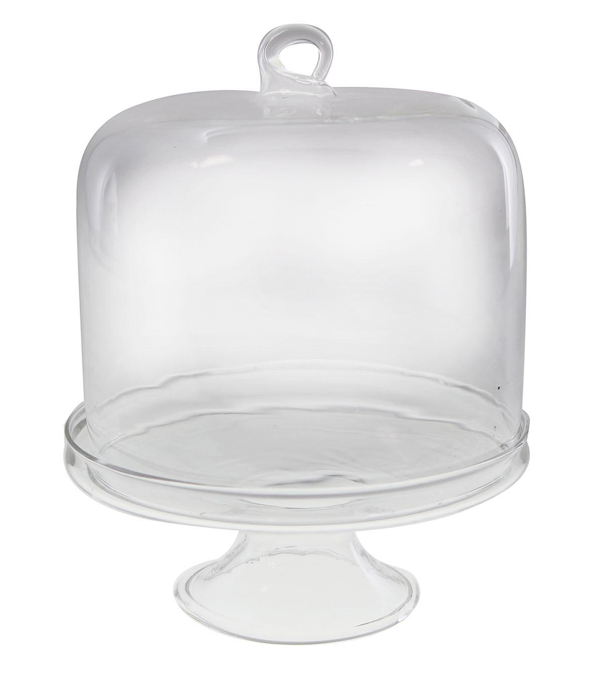 Maker\u0027s Holiday Craft Small Dome Display Glass Cake Stand
