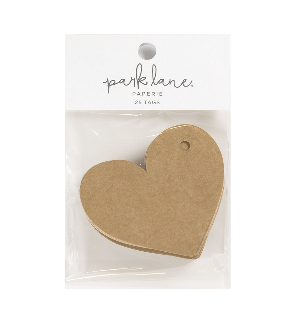 Park Lane 25 pk Heart Tags-Kraft