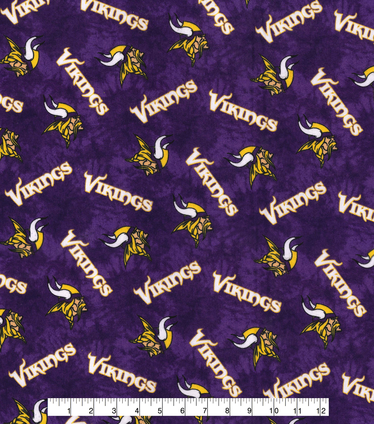 Minnesota Vikings Flannel Fabric 42\u0022-Tie Dye