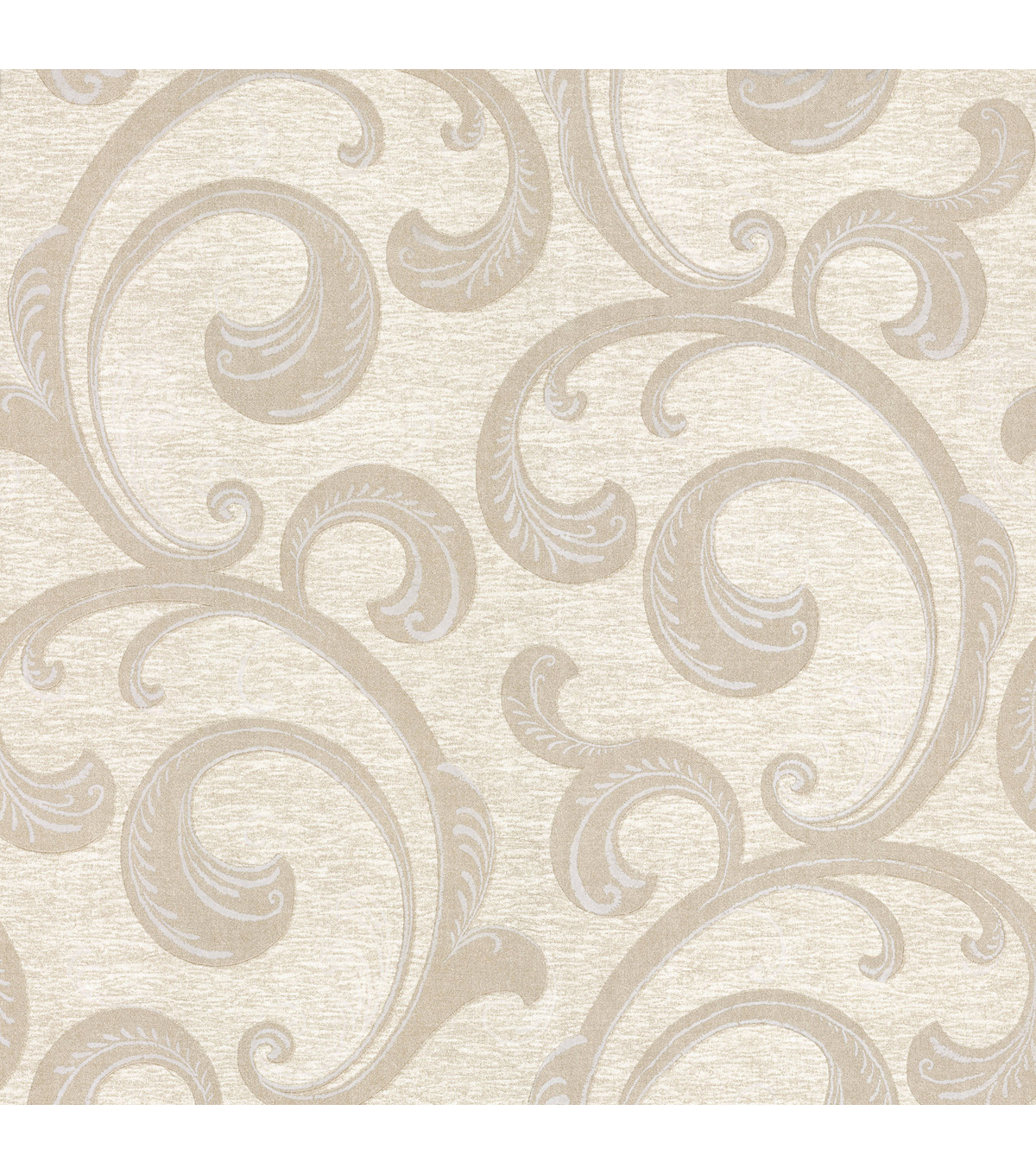 Nijah Beige Scroll Wallpaper