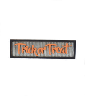 Maker\u0027s Halloween Galvanized Wall Decor-Trick or Treat