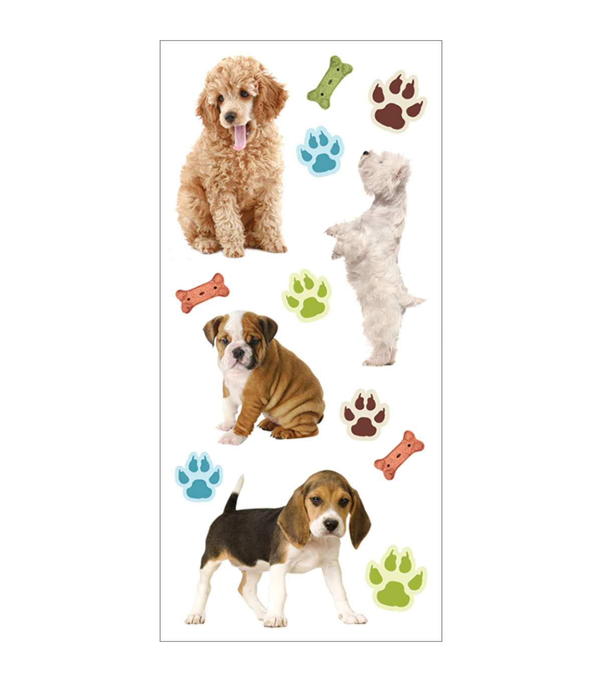 Puppies 3D Puffy Stickers