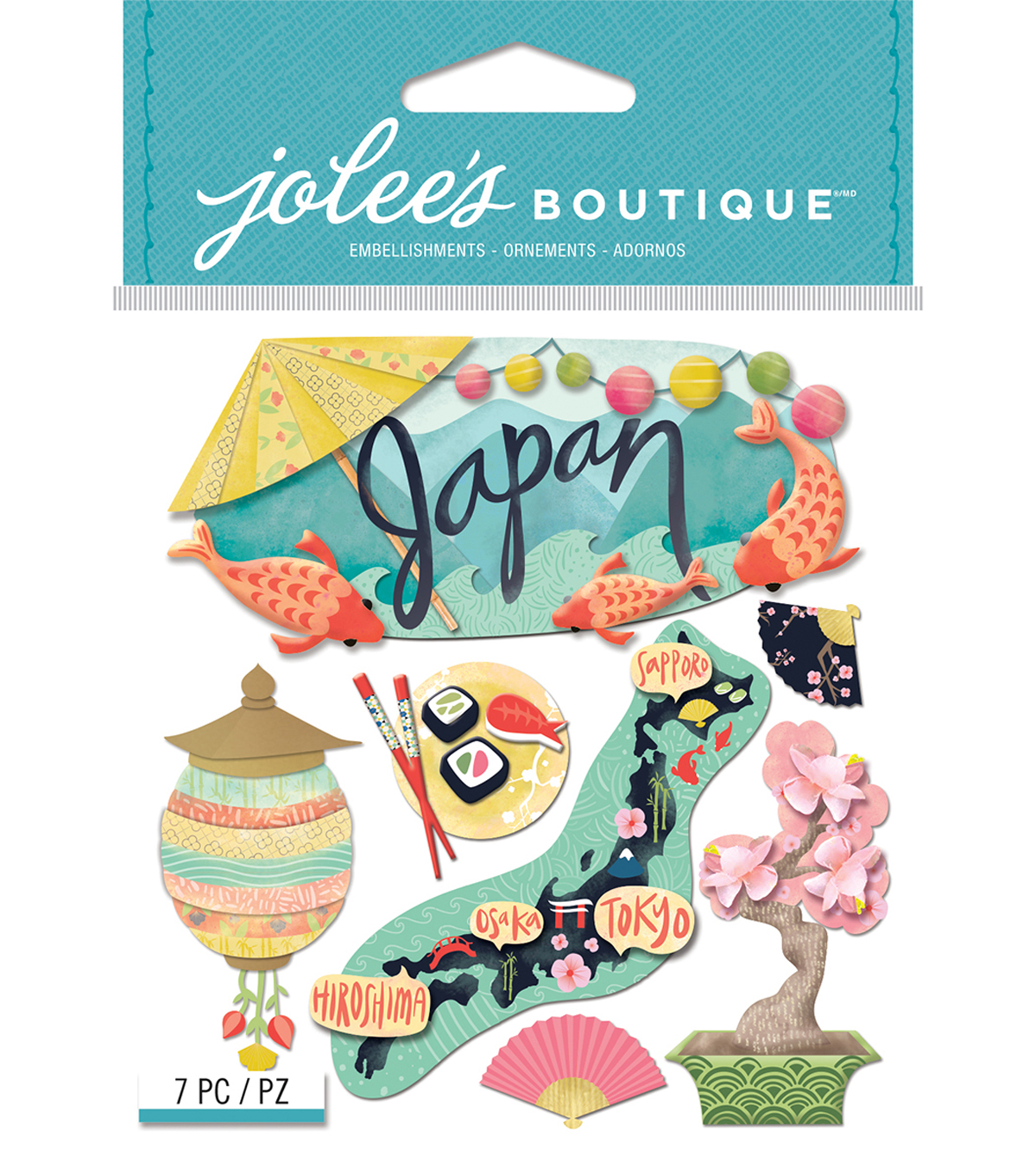 Jolee\u0027s Boutique Dimensional Stickers-Japan
