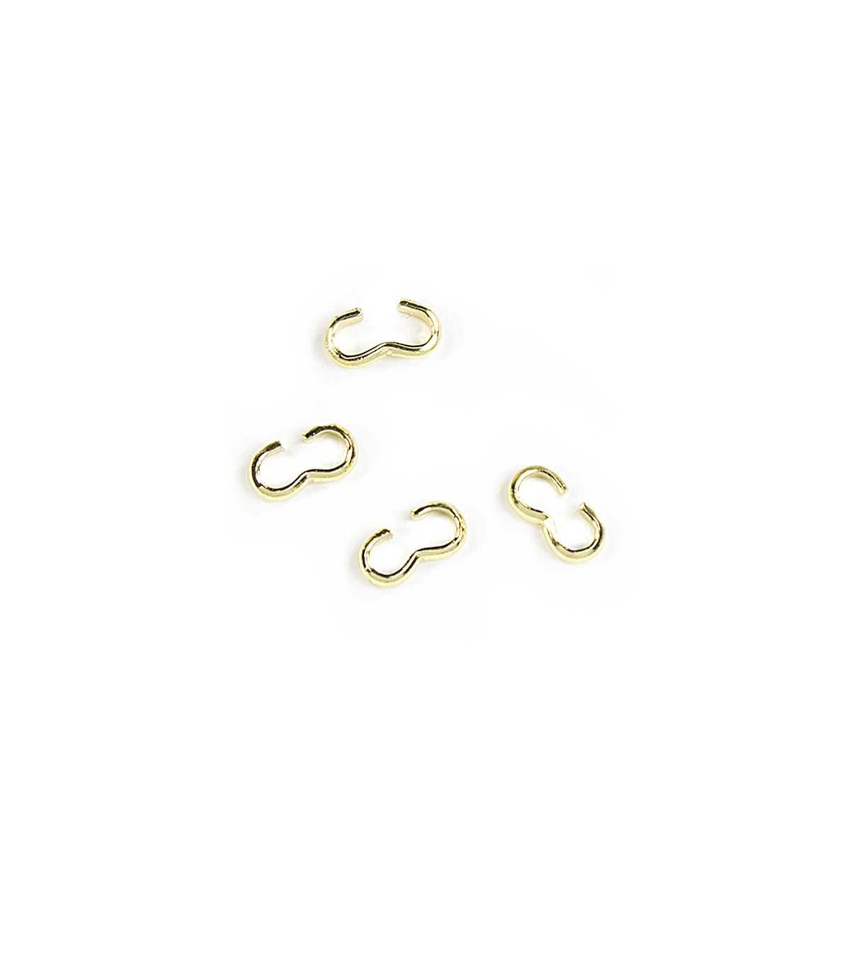 Blue Moon Findings Connector Metal Figure 8 7mm Gold