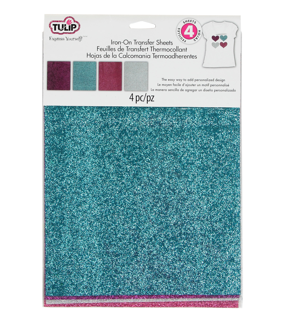 Tulip Glam-It-Up! Iron-On Shimmer Transfer Sheets Urban