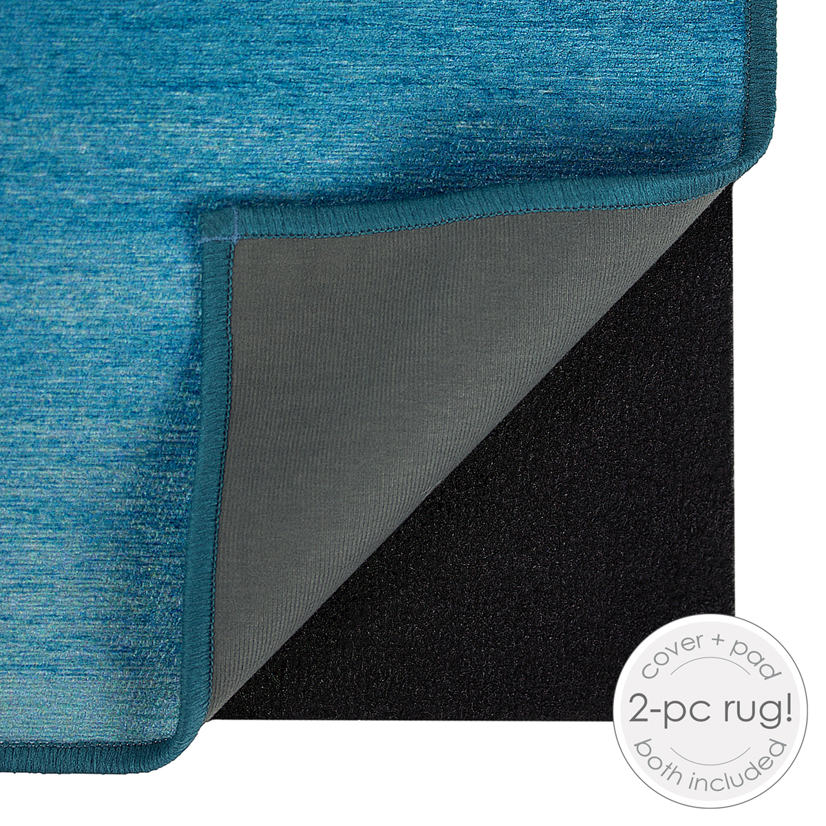 Ruggable Washable 5x7\u0027 Area Rug-Ombre Blue
