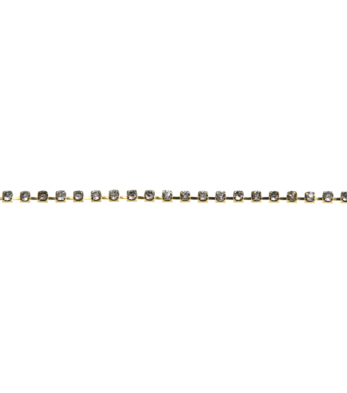 Jewelry Basics Single Strand Rhinestone Chain-22 Inch Crystal/Gold