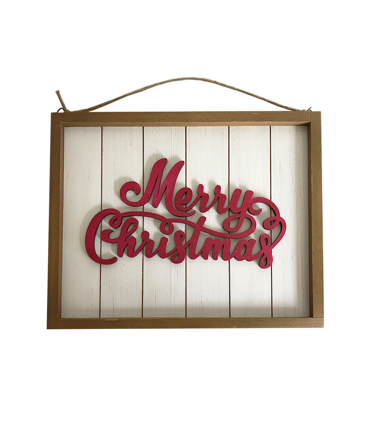 Maker\u0027s Holiday Christmas Wall Decor-Red Merry Christmas on White