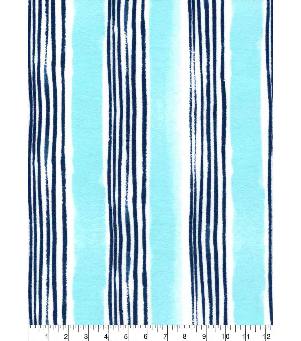 Nursery Flannel Fabric -Gordan Stripe