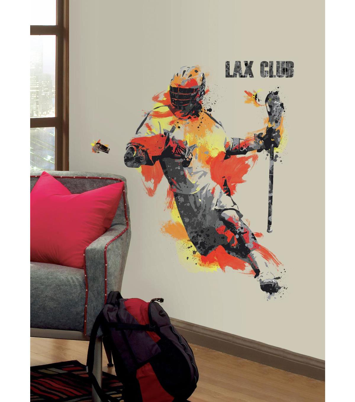 York Wallcoverings Wall Decals-Men\u0027s Lacrosse Champion