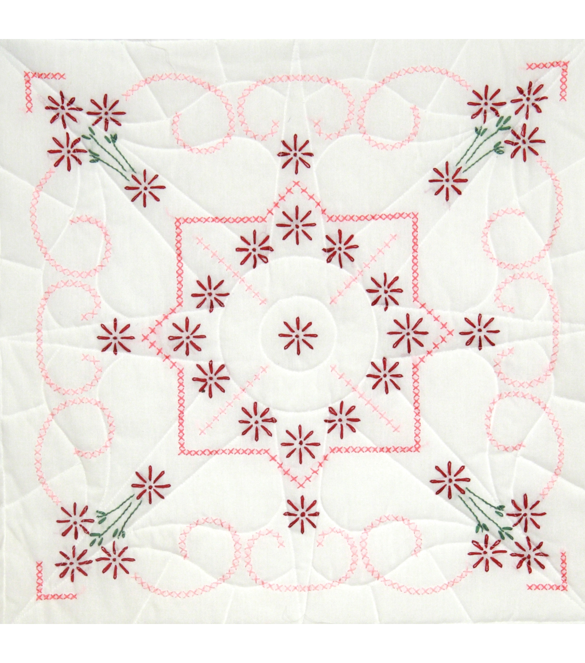 Fairway Stamped Quilt Blocks Lazy Daisy