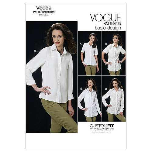 Vogue Patterns Misses Top-V8689