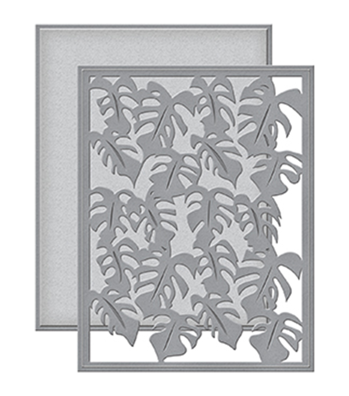 Spellbinders Card Creator Etched Die-Monstera Leaf Card Front