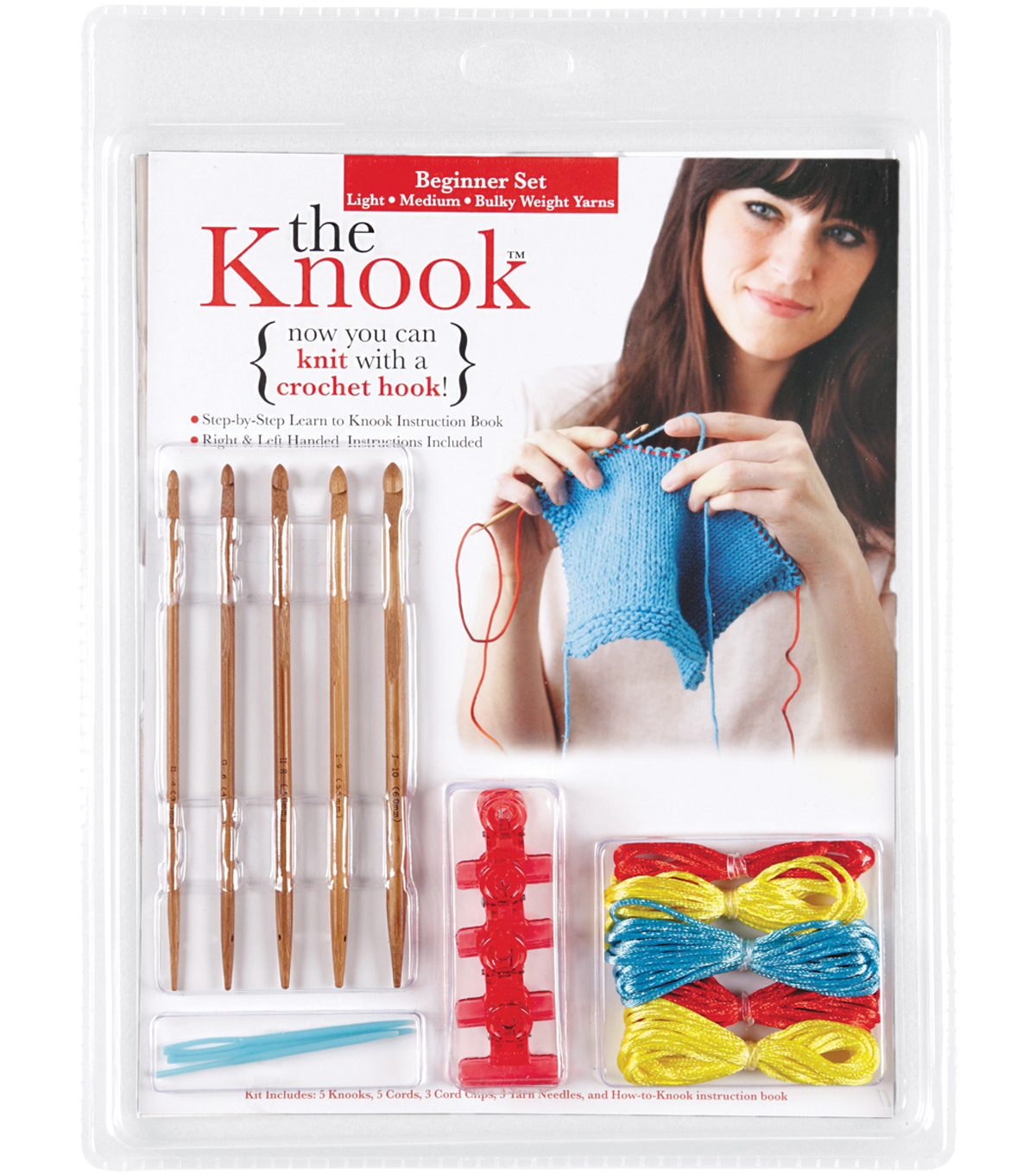 The Knook Beginner Set-Light Medium & Bulky Weight Yarn