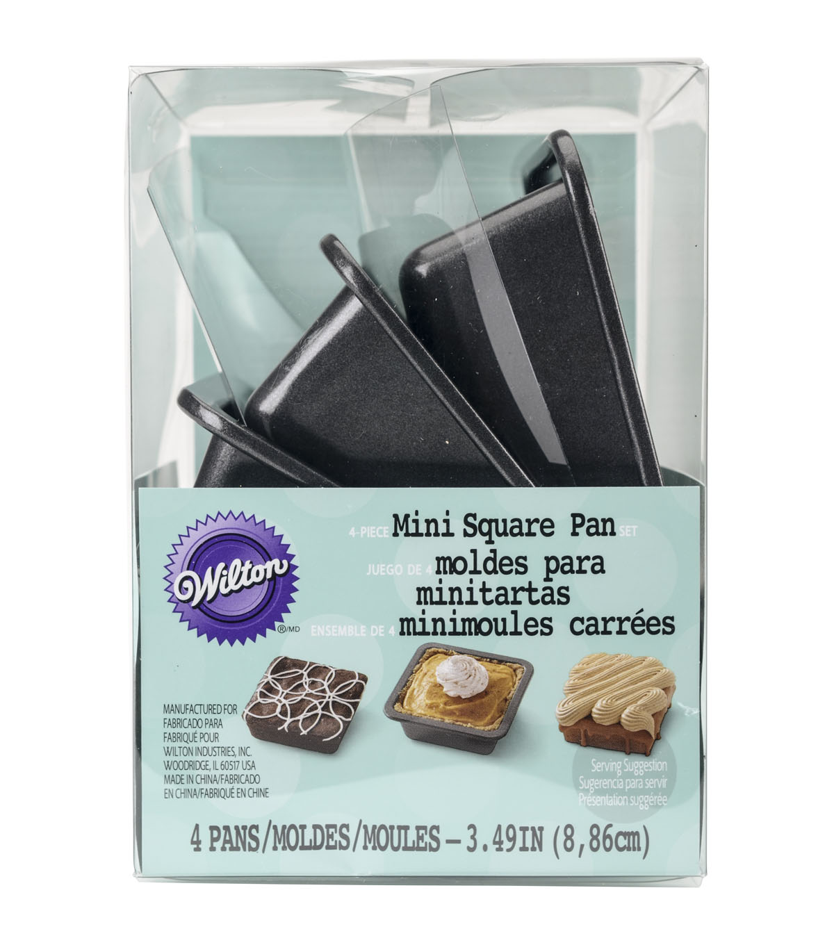 Wilton 4 pk Mini Square Pans