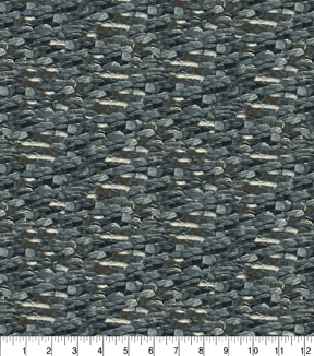 Novelty Cotton Fabric 43\u0022-Rocks Grey
