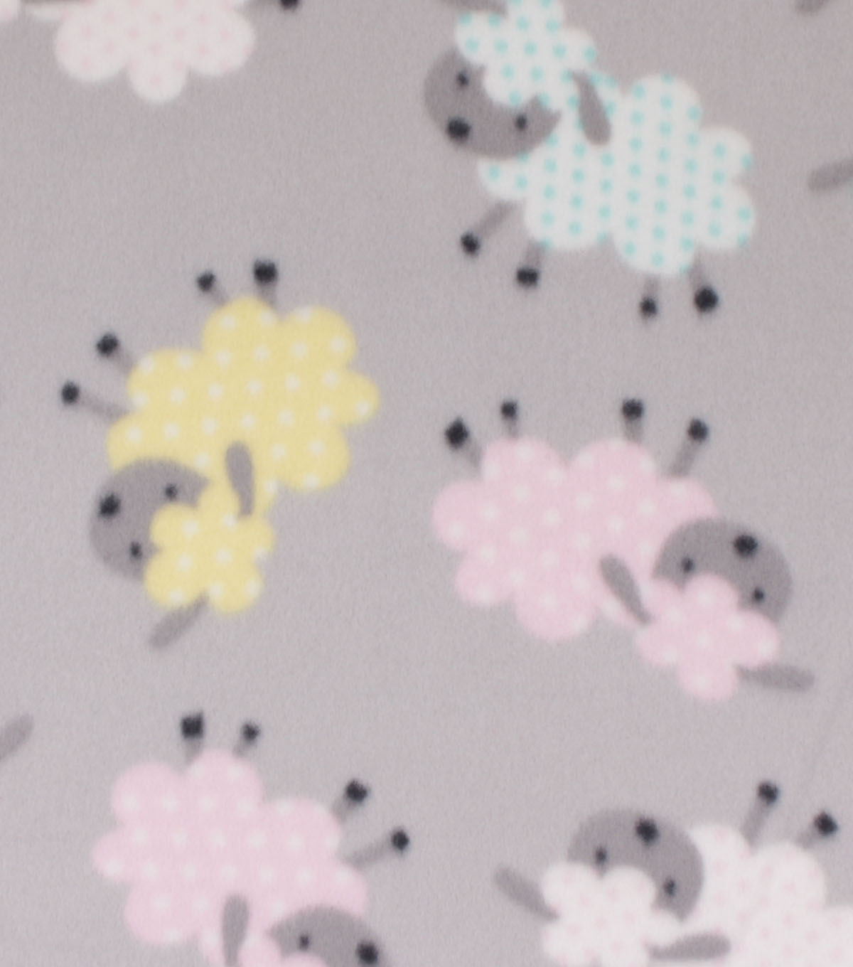 Blizzard Fleece Fabric-Multi Color Sheep with Dots