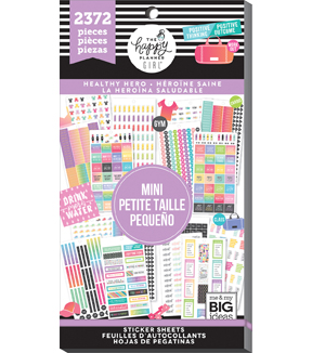 The Happy Planner Girl Value Pack Stickers Healthy Hero Mini