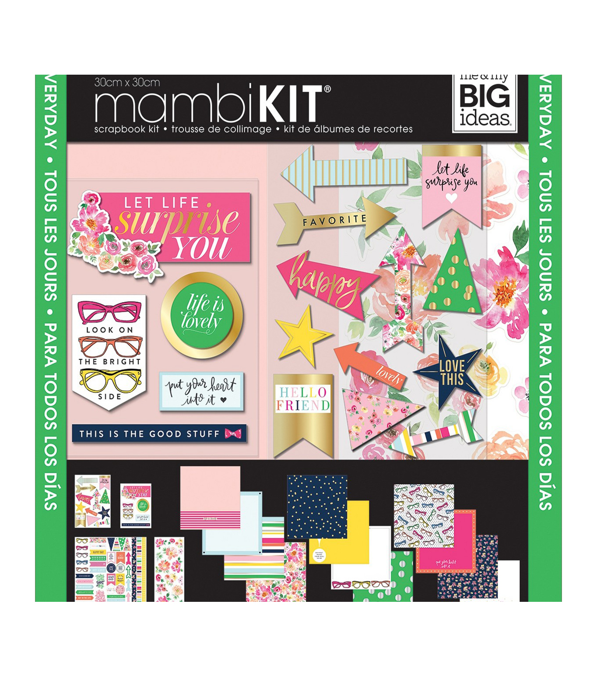 Me & My Big Ideas Page Kit 12\u0022X12\u0022-Bright Side