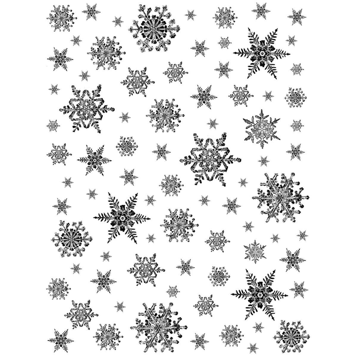 Crafty Individuals Unmounted Rubber Stamp Snowflakes Background