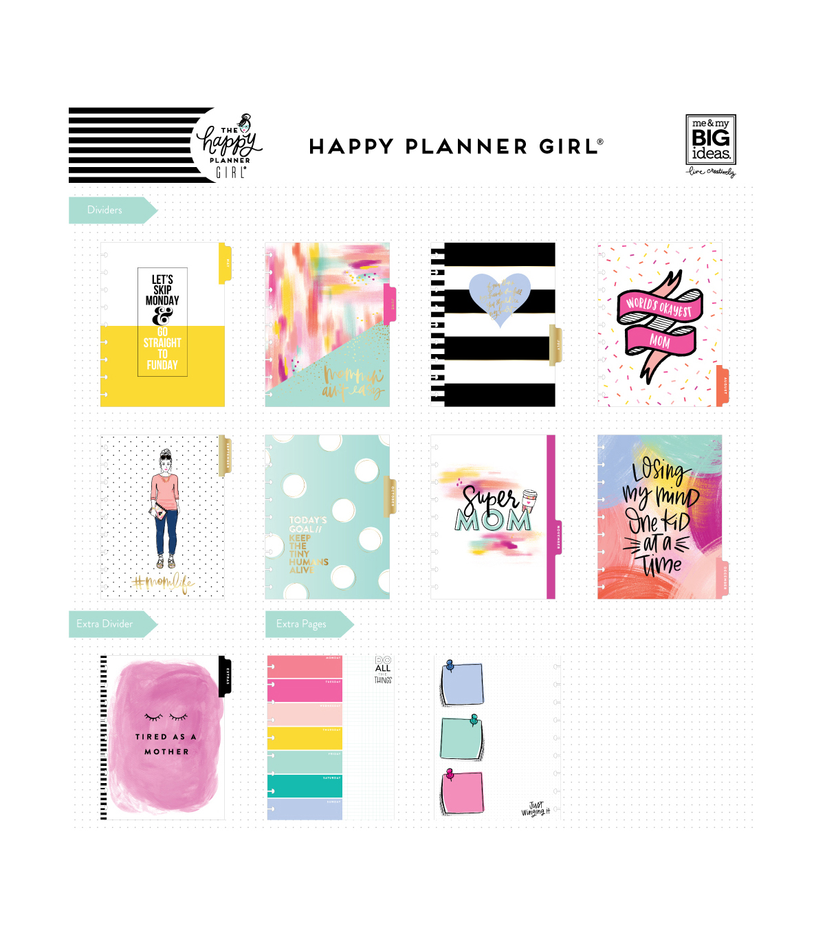 The Happy Planner Girl 12 Month Planner-Super Mom