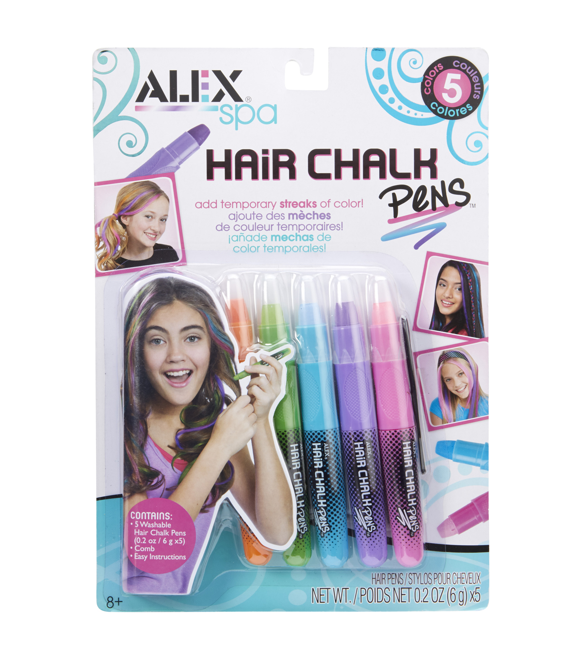 Alex Toys Assorted Hair Chalk Pens