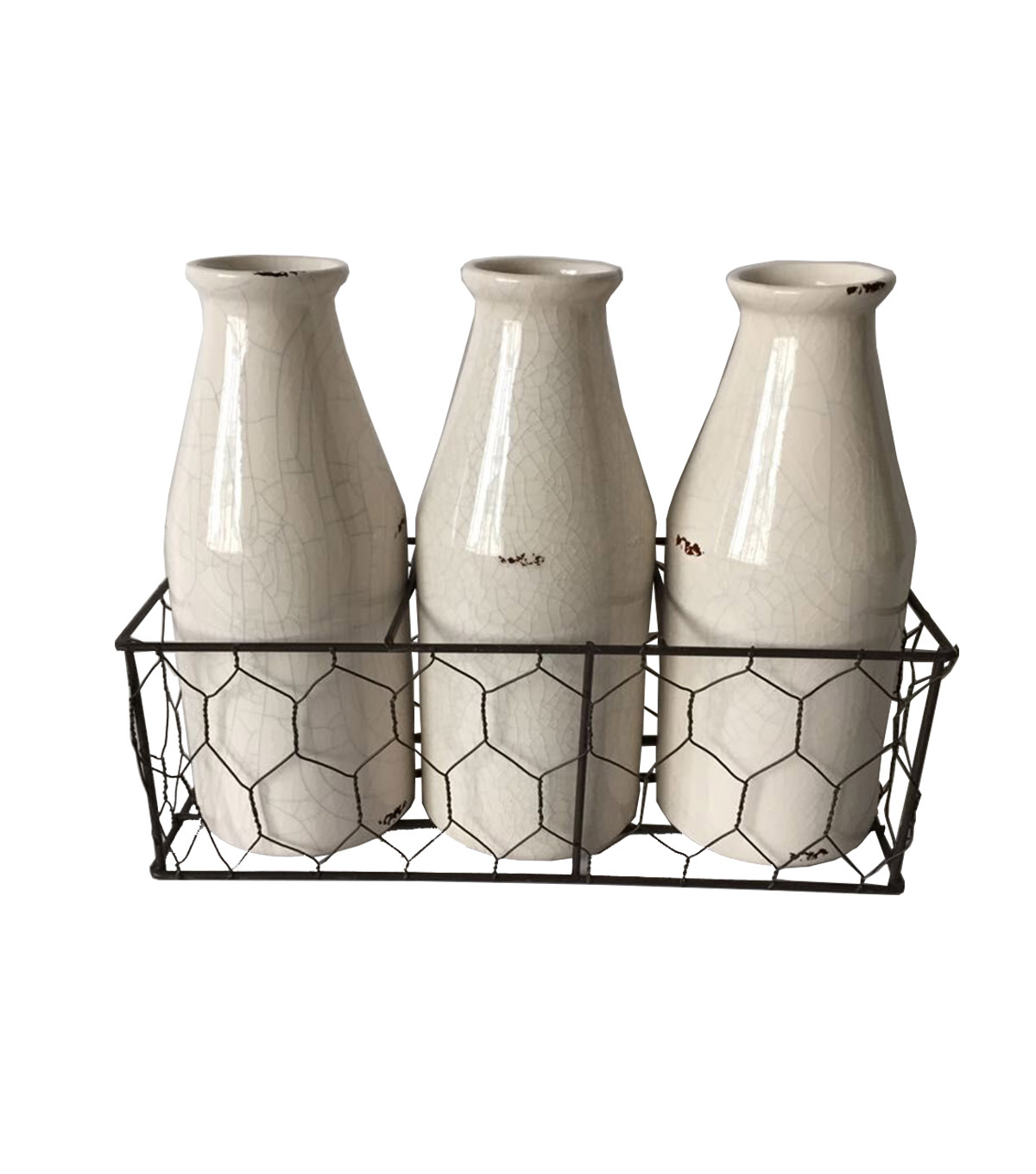 Bloom Room Set Of 3 Ceramic Bottles