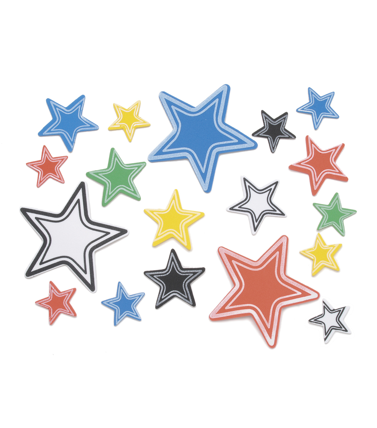 Foam Stickers-Varsity Stars